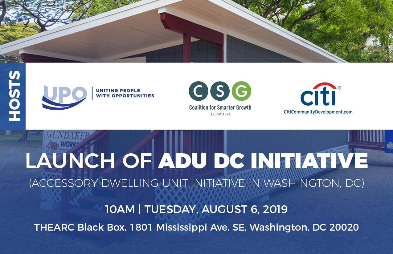 United Planning Organization Announces Launch of ADU DC, an Accessory Dwelling Unit Initiative in Washington, DC