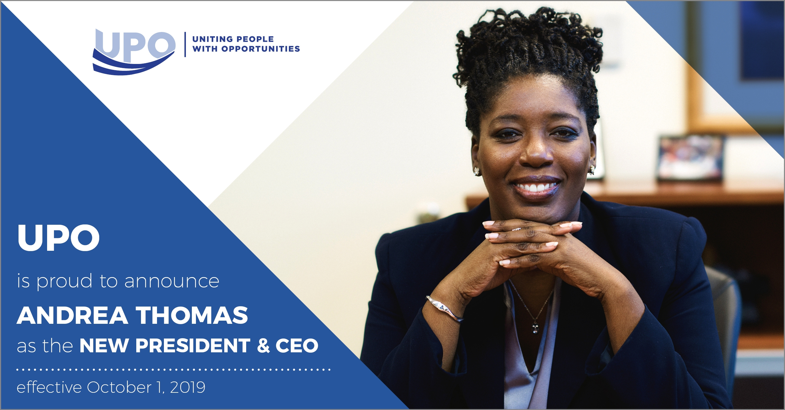 Congratulations to our new President & CEO: Andrea Thomas